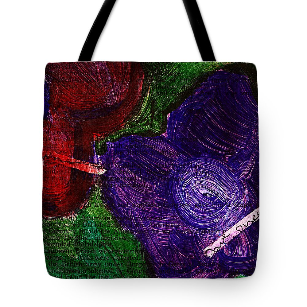 Flowers Tote Bag featuring the mixed media Flowers by Cassie Peters