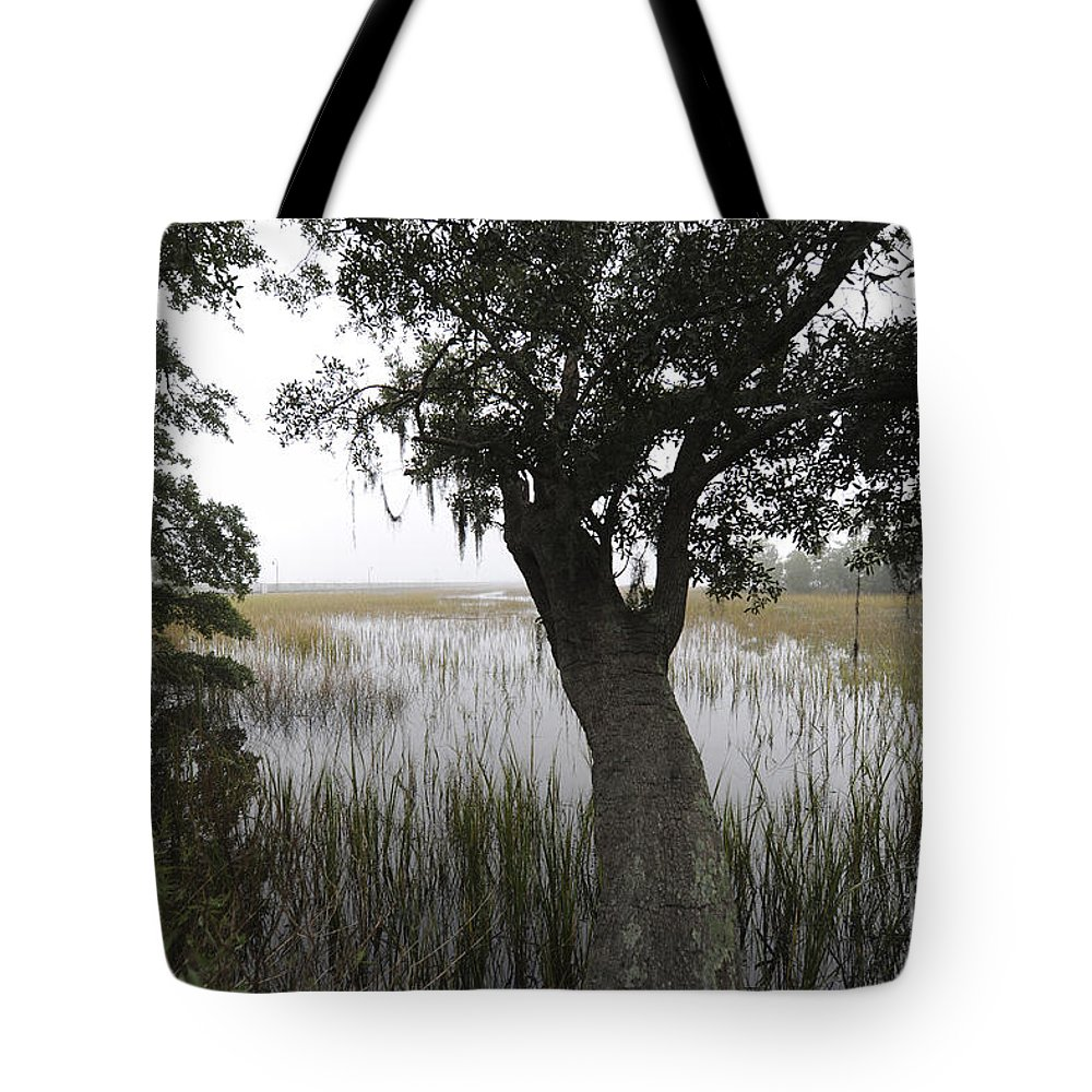 Fog Tote Bag featuring the photograph Fog On The Water by Dale Powell
