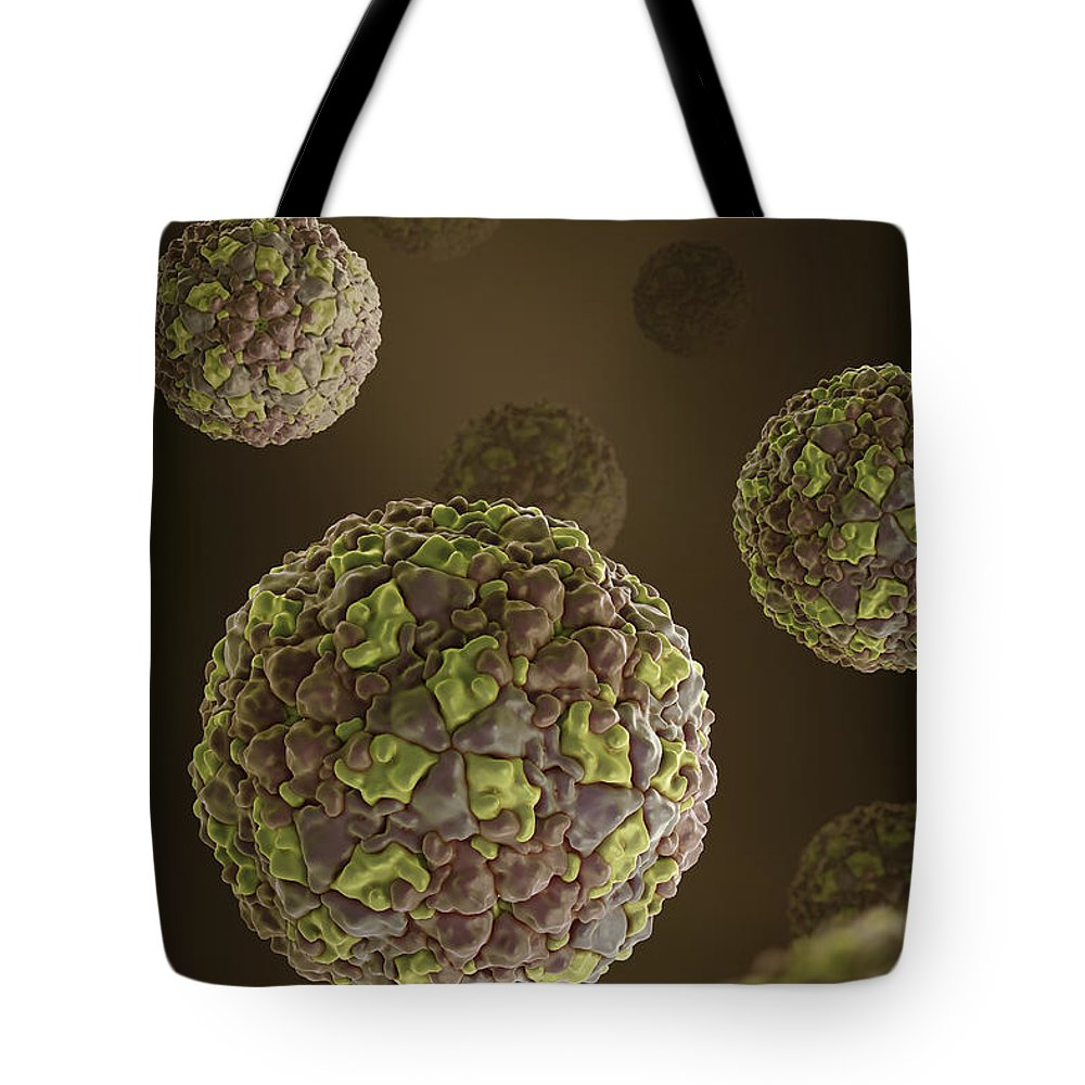 Picornavirus Tote Bag featuring the photograph Foot-and-mouth Disease Virus by Science Picture Co