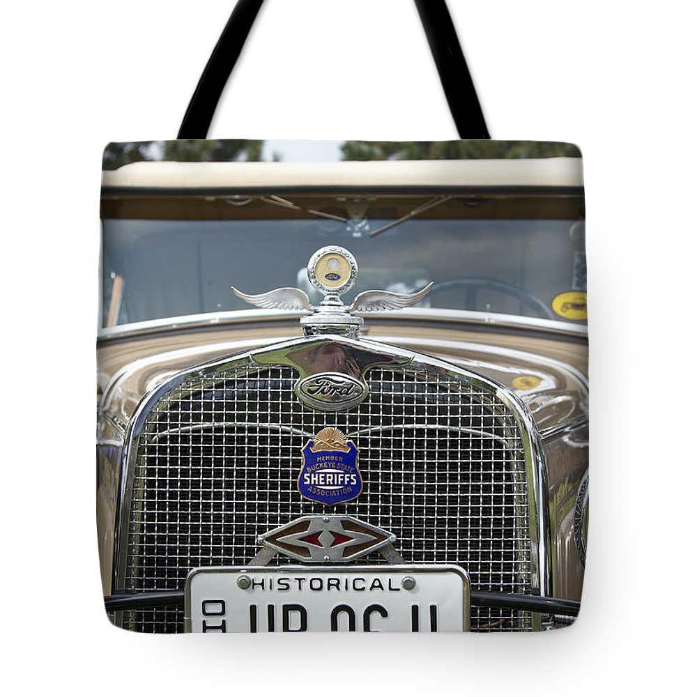 Antique Tote Bag featuring the photograph Ford by Jack R Perry