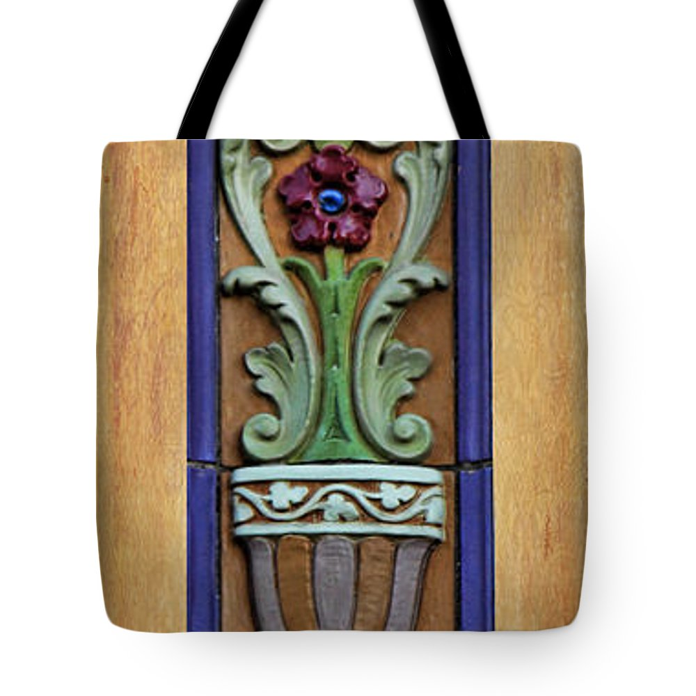 Fox Theater Tote Bag featuring the photograph Fox Floral by Sylvia Thornton