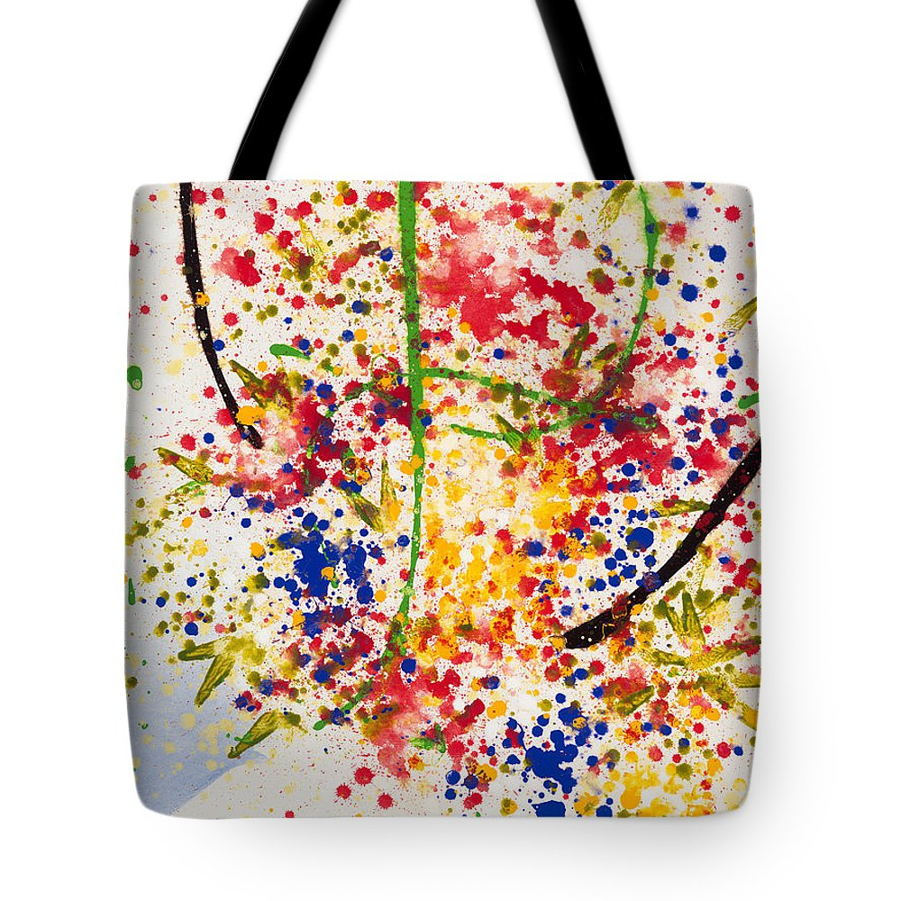 Colorchrome Scans Tote Bag featuring the painting Freedom by Jerome Lawrence