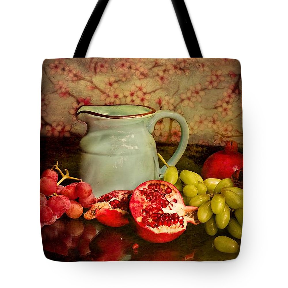 Ceramic Tote Bag featuring the photograph Fruits by FL collection