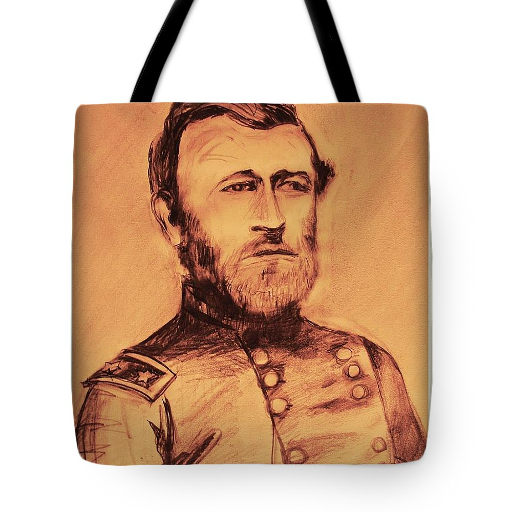 Grant Tote Bag featuring the painting General Us Grant by Eric Schiabor