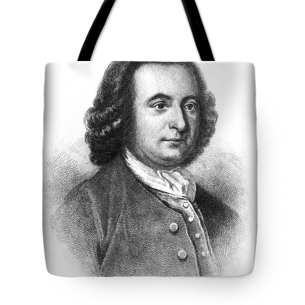 18th Century Tote Bag featuring the photograph George Mason (1725-1792) by Granger