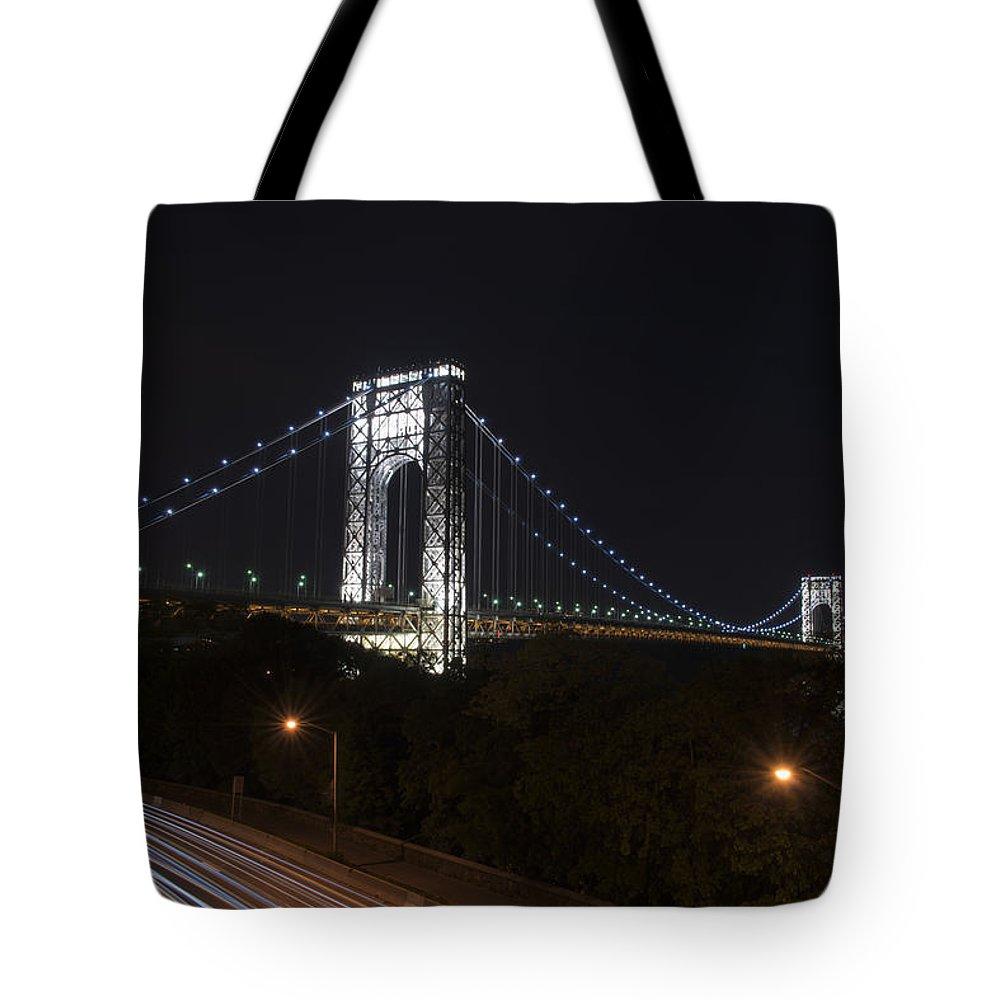 Gwb Tote Bag featuring the photograph George Washington Bridge - Memorial Day 2013 by Theodore Jones