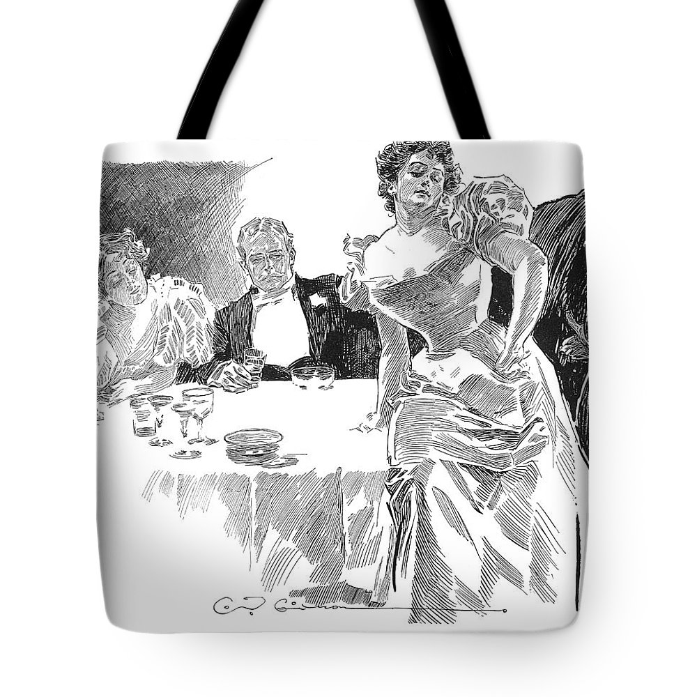 1890s Tote Bag featuring the photograph Gibson: Dinner Party by Granger