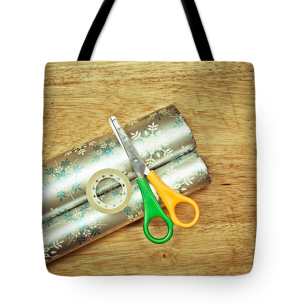 Background Tote Bag featuring the photograph Gift Wrapping by Tom Gowanlock