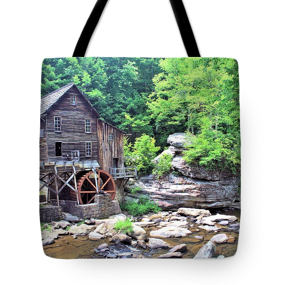 5239 Tote Bag featuring the photograph Glade Creek Grist Mill by Gordon Elwell