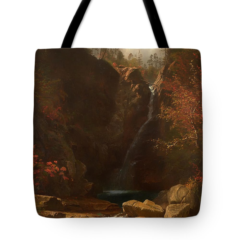 Painting Tote Bag featuring the painting Glen Ellis Falls by Mountain Dreams