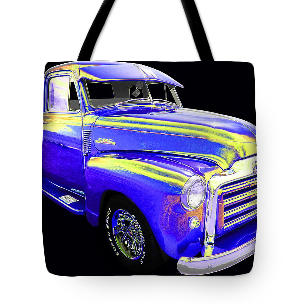 1953 Gmc Pick Up Tote Bag featuring the photograph GMC by Allan Price