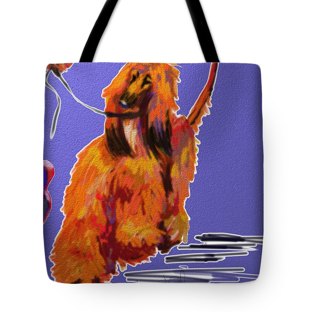 Ipad Finger Painting Tote Bag featuring the painting Go Red Go by Terry Chacon