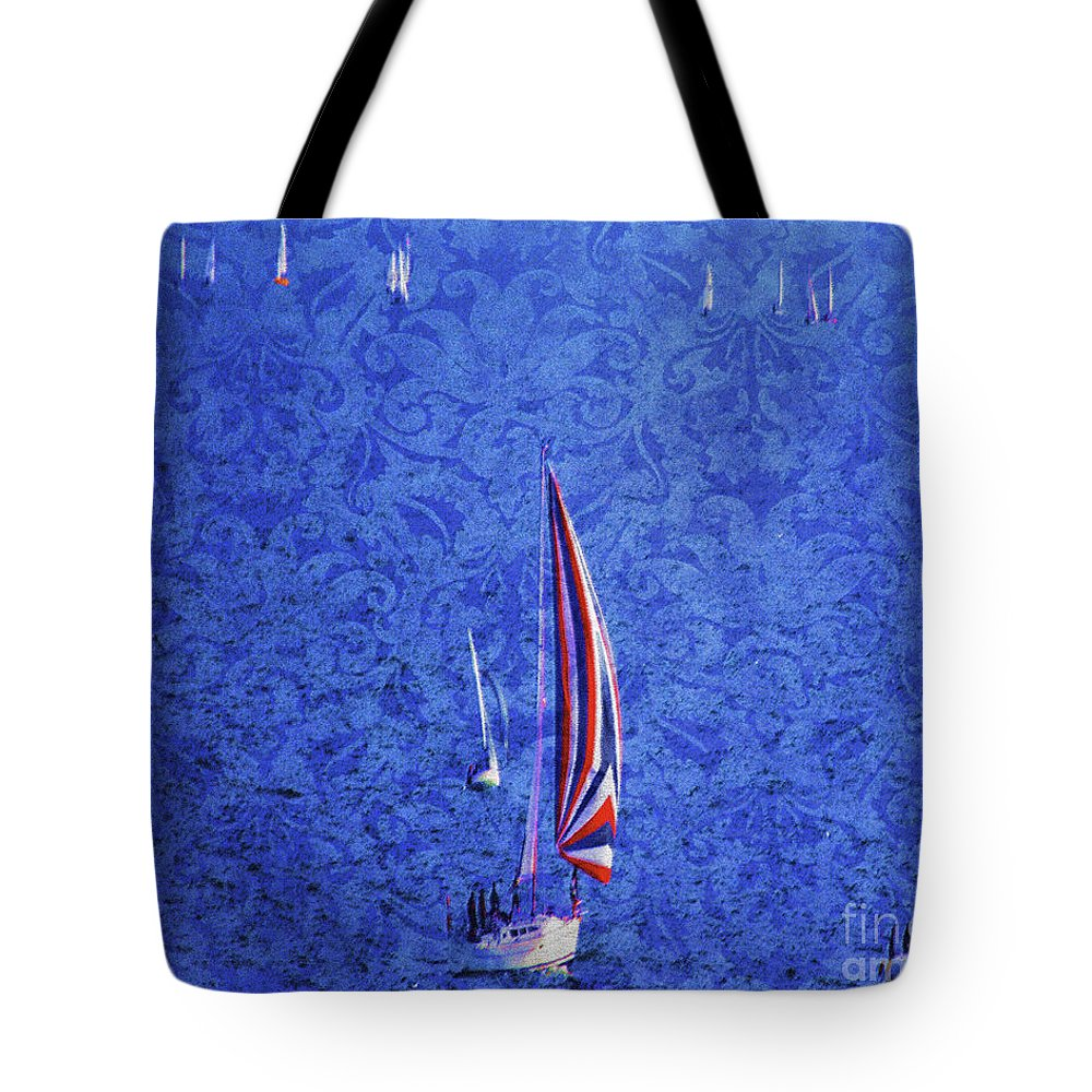 Nag004105 Tote Bag featuring the photograph Gone Sailing by Edmund Nagele