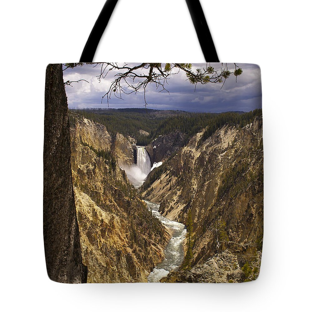 Grand Canyon Tote Bag featuring the photograph Grand Canyon Of The Yellowstone by J L Woody Wooden