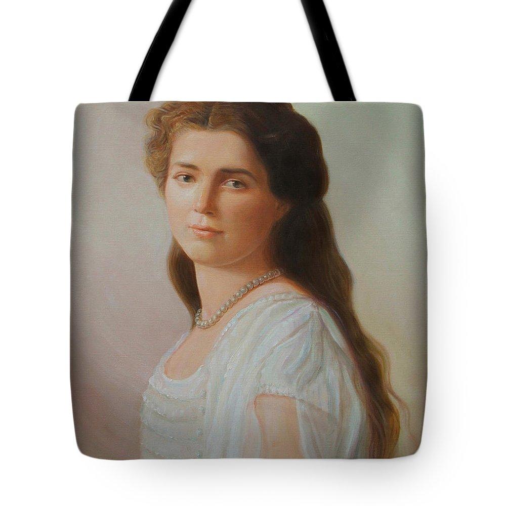 Grand Duchess Maria Nikolaevna Of Russia Tote Bag featuring the painting Grand Duchess Maria Nikolaevna Of Russia by George Alexander