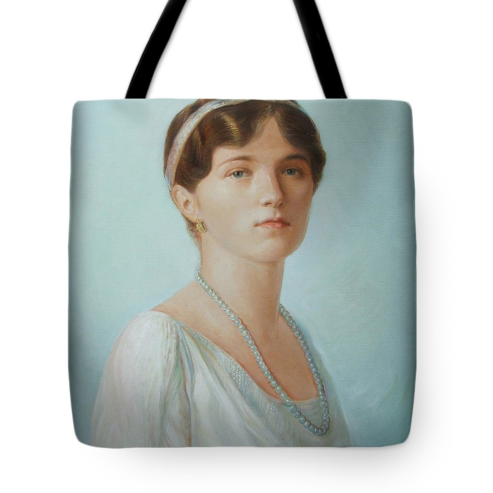 Grand Duchess Olga Nikolaevna Of Russia Tote Bag featuring the painting Grand Duchess Olga Nikolaevna Of Russia by George Alexander
