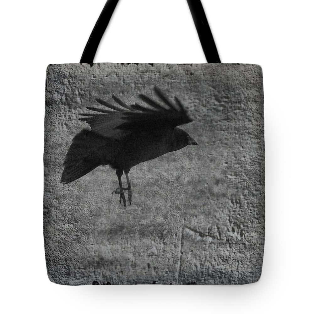 Crow Tote Bag featuring the photograph Gray by Gothicrow Images