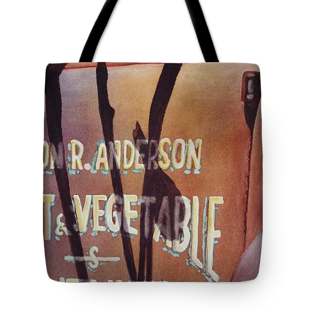 Bluebird Tote Bag featuring the painting Great American Food Truck by Greg and Linda Halom