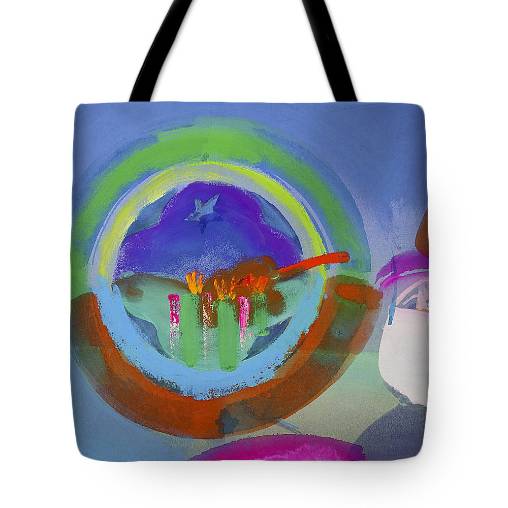 Texas Art Tote Bag featuring the painting Great Glad Morning by Charles Stuart