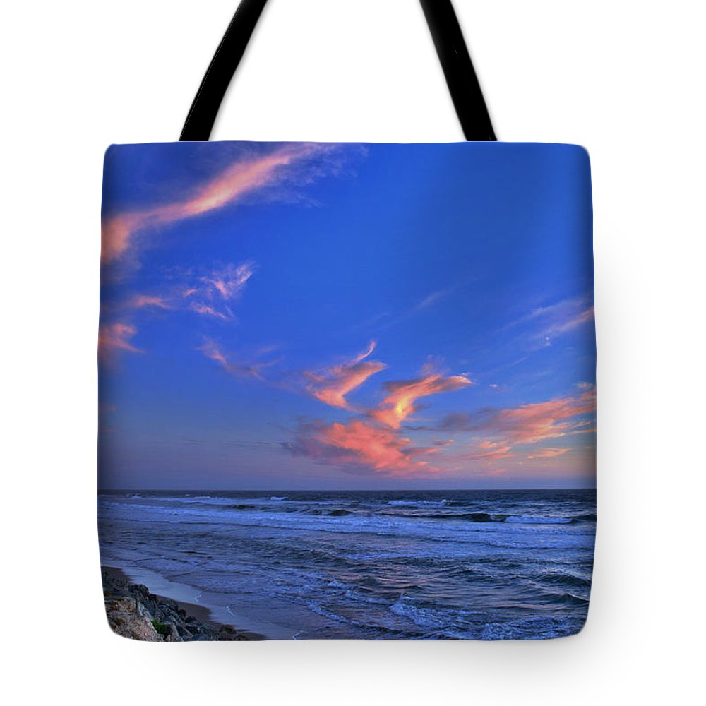 Great Highway Tote Bag featuring the photograph Great Highway Sunset by Spencer Hughes