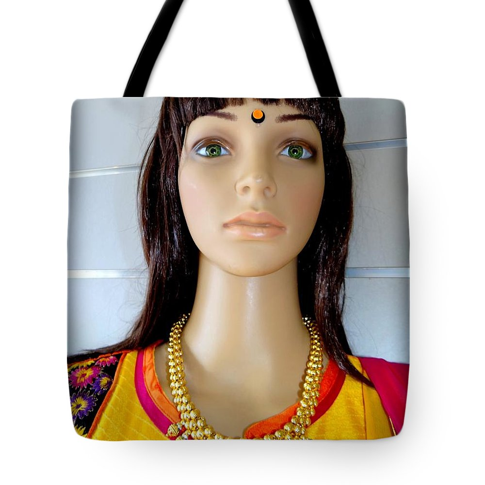 Mannequins Tote Bag featuring the photograph Green Eyes by Ed Weidman