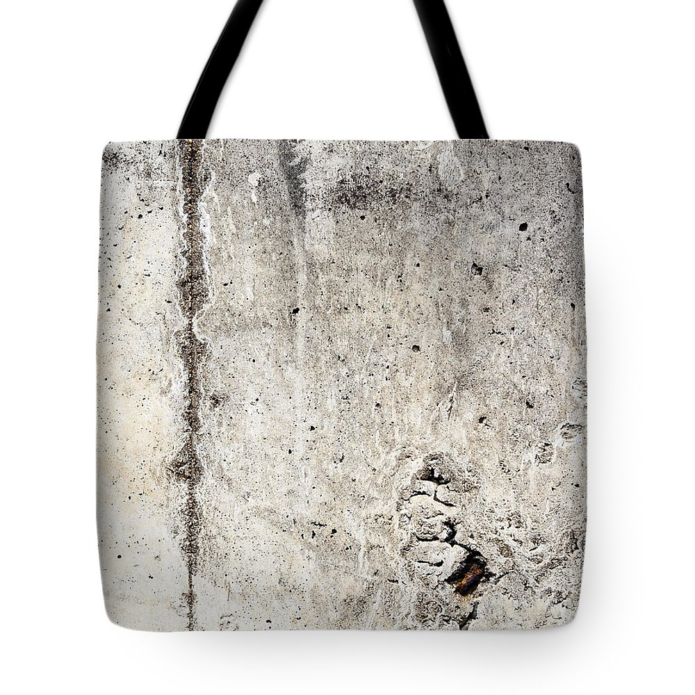 Concrete Wall Tote Bag featuring the photograph Grunge Concrete Texture by Tim Hester