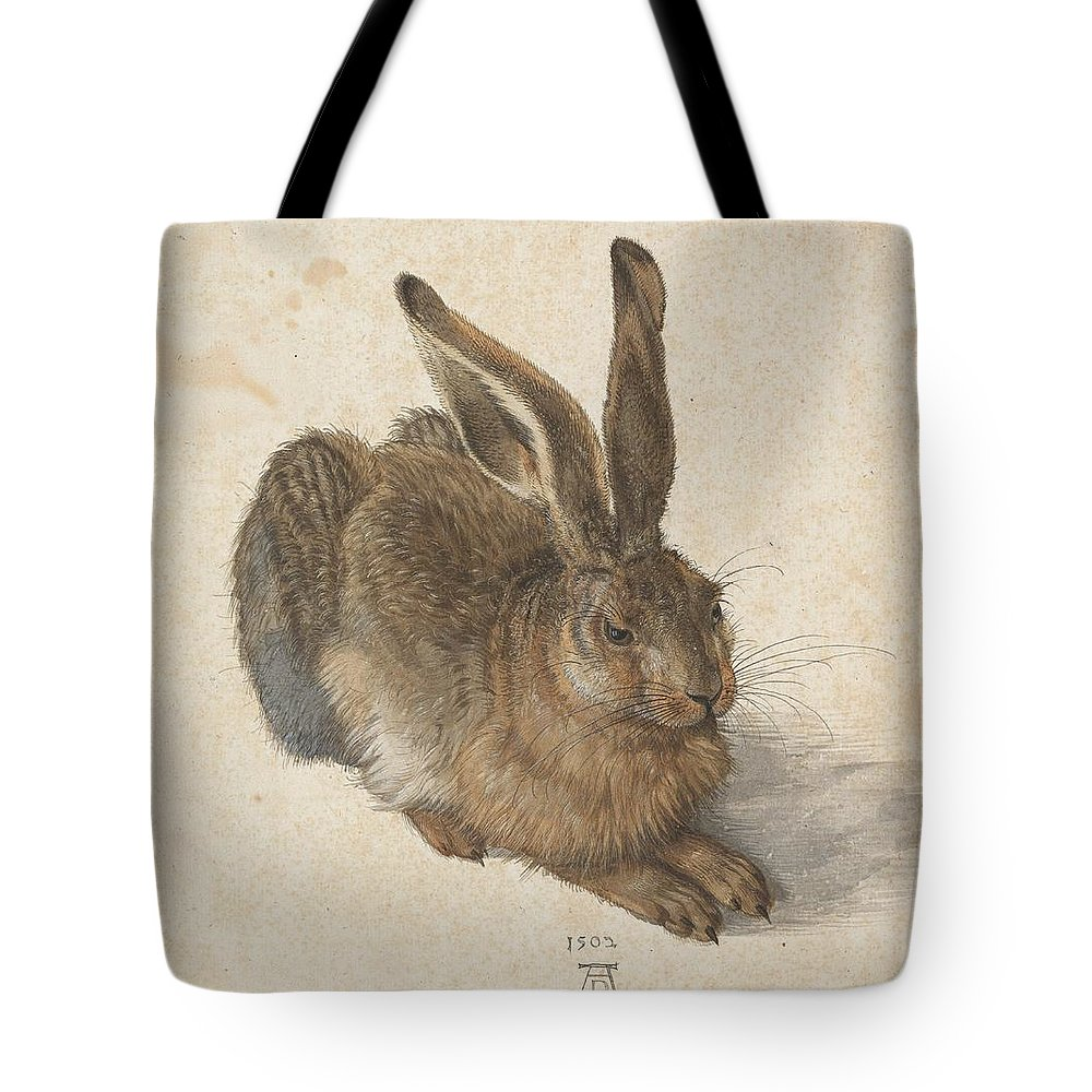 fc22031c71a1 Durer Hare Tote Bag featuring the painting Young Hare by Albrecht Durer