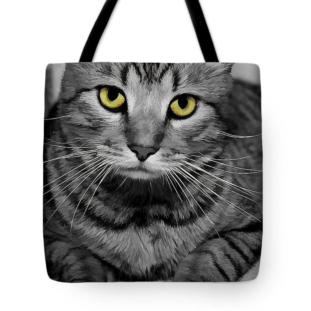 Gold Eyes Tote Bag featuring the photograph Handsome by Joyce Baldassarre