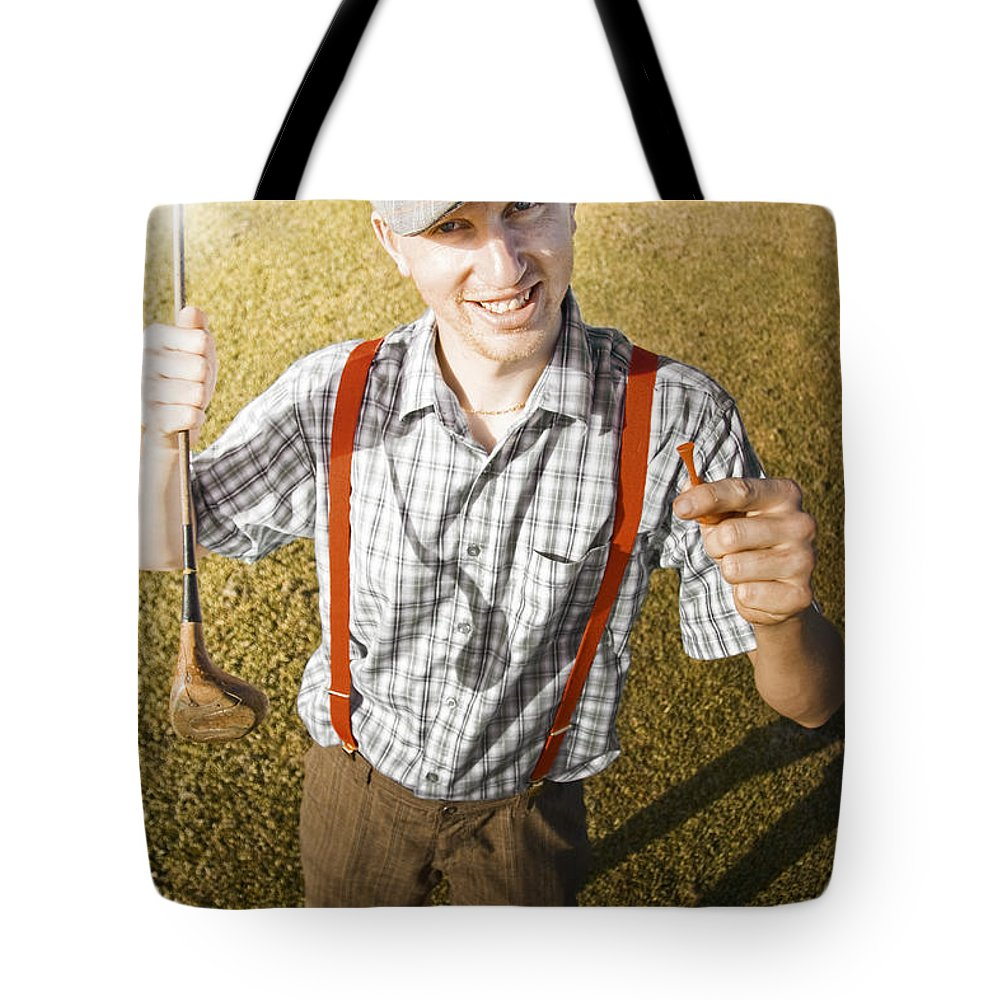 People Tote Bag featuring the photograph Happy The Golf Man by Jorgo Photography - Wall Art Gallery
