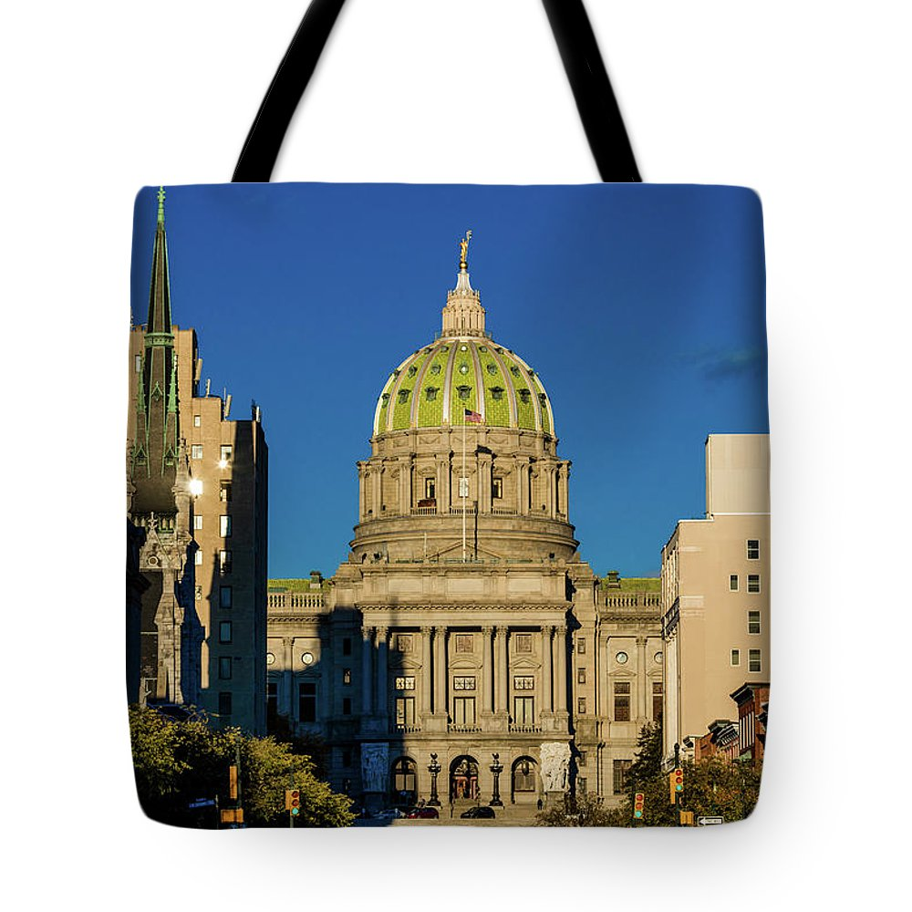 Photography Tote Bag featuring the photograph Harrisburg, Pennsylvania, City Skyline by Panoramic Images