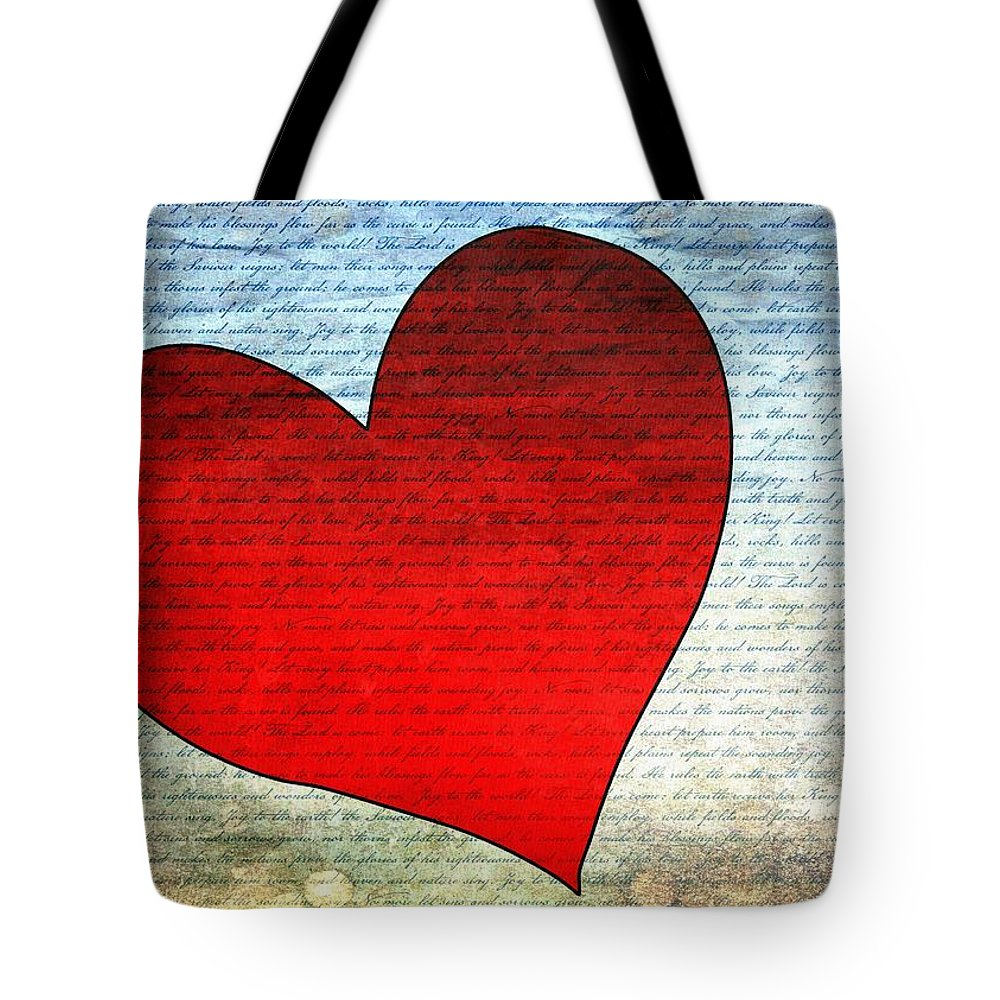 Heart Tote Bag featuring the digital art Heart by Gabi Siebenhuehner