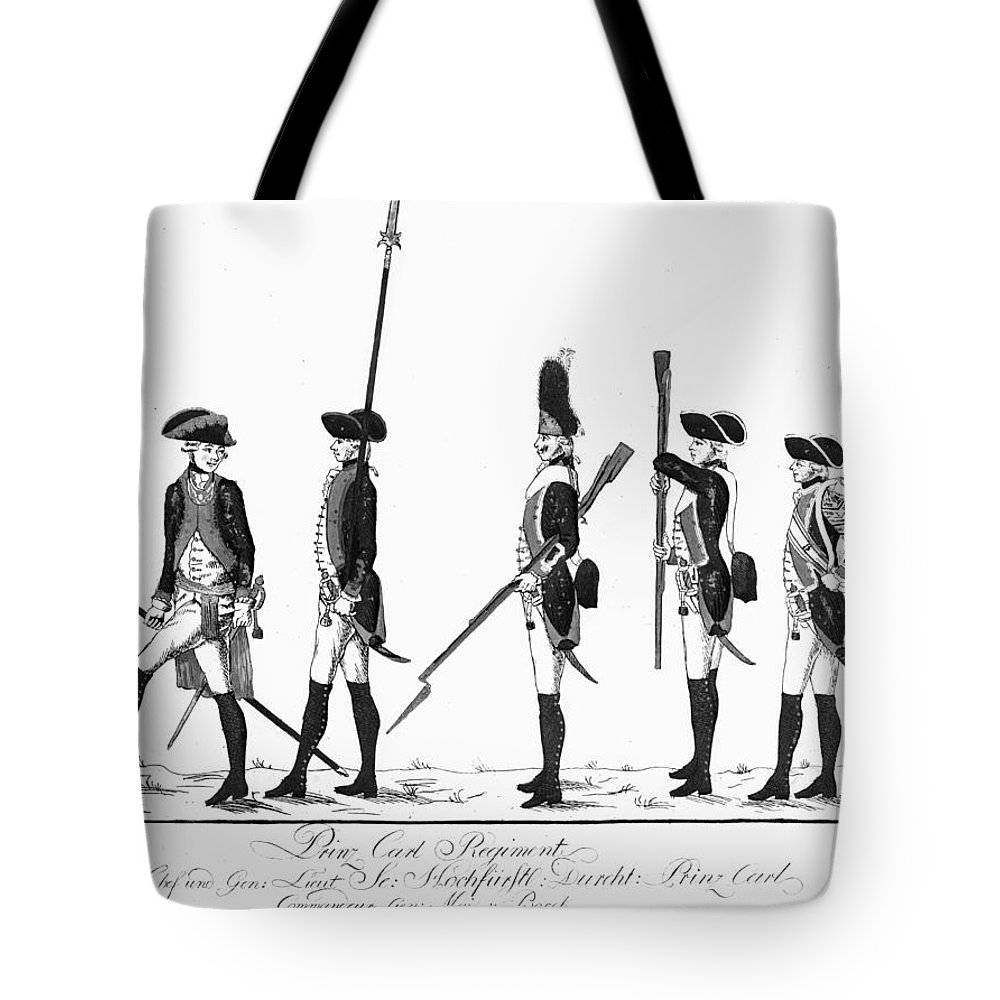 18th Century Tote Bag featuring the photograph Hessian Soldiers by Granger