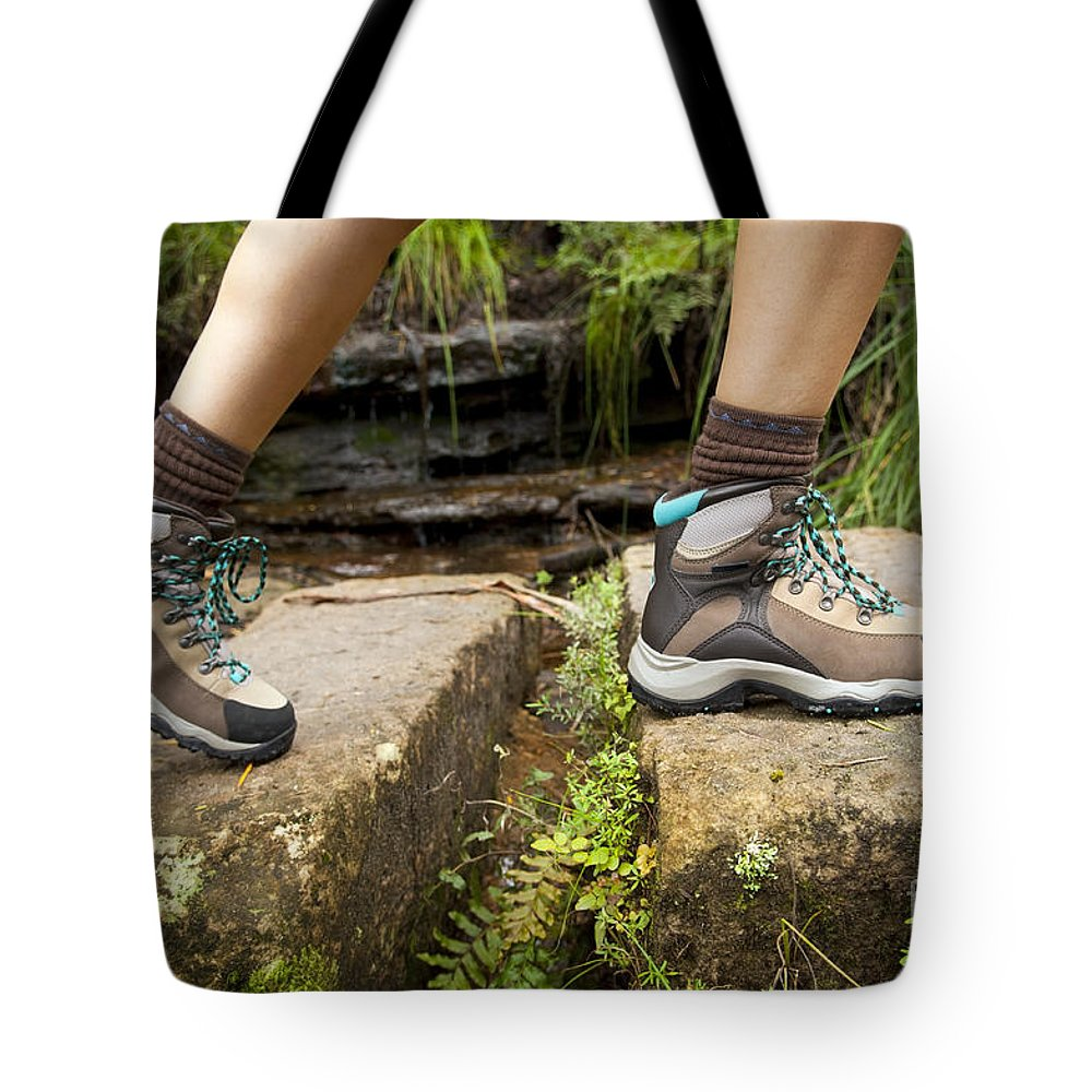 Australia Tote Bag featuring the photograph Hiking Boots by Tim Hester