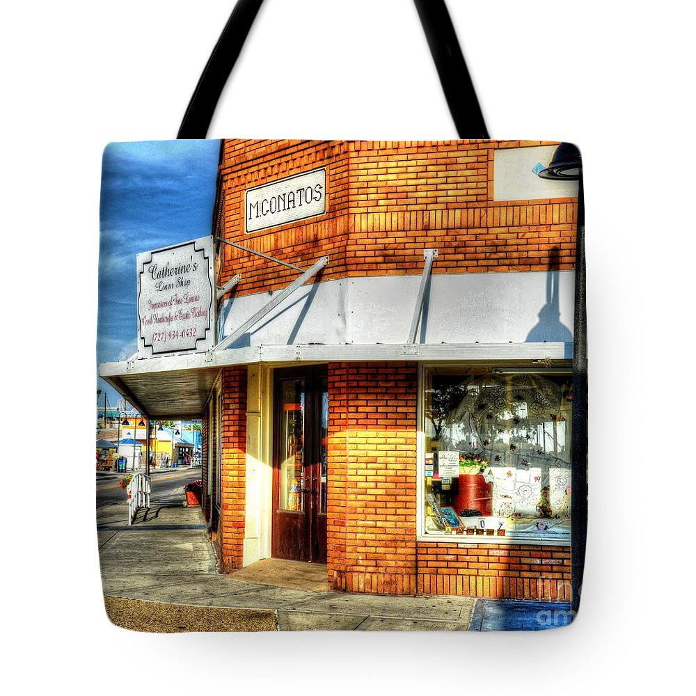 Building Tote Bag featuring the photograph Hit The Bricks by Debbi Granruth