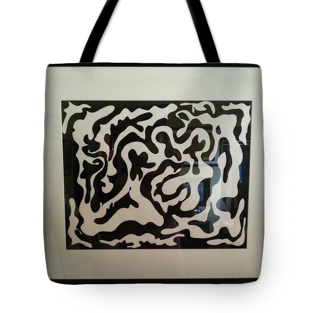 Framed Artwork Tote Bag featuring the painting Holding Hands by Myrtle Joy