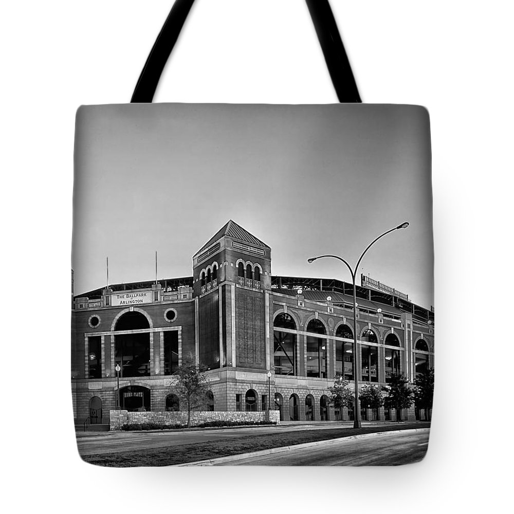 Stadium Tote Bag featuring the photograph Home Of The Texas Rangers by Mountain Dreams