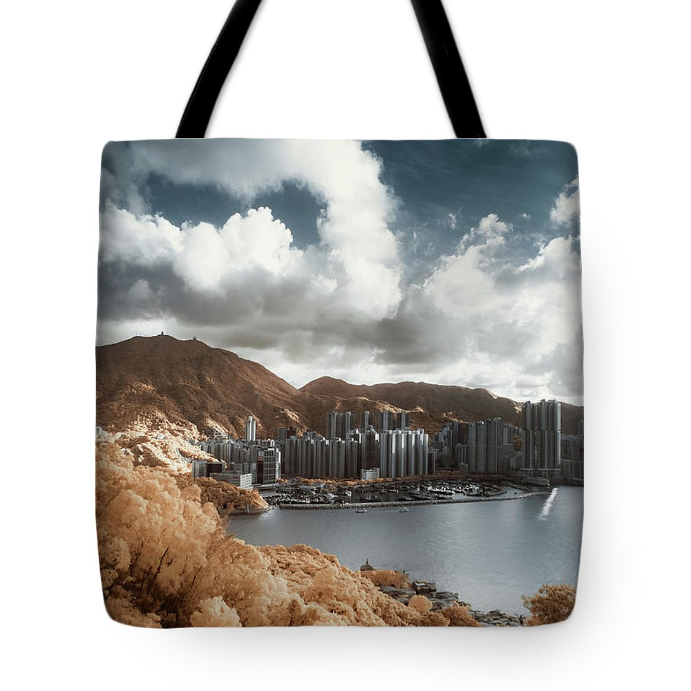 Tranquility Tote Bag featuring the photograph Hong Kong by D3sign