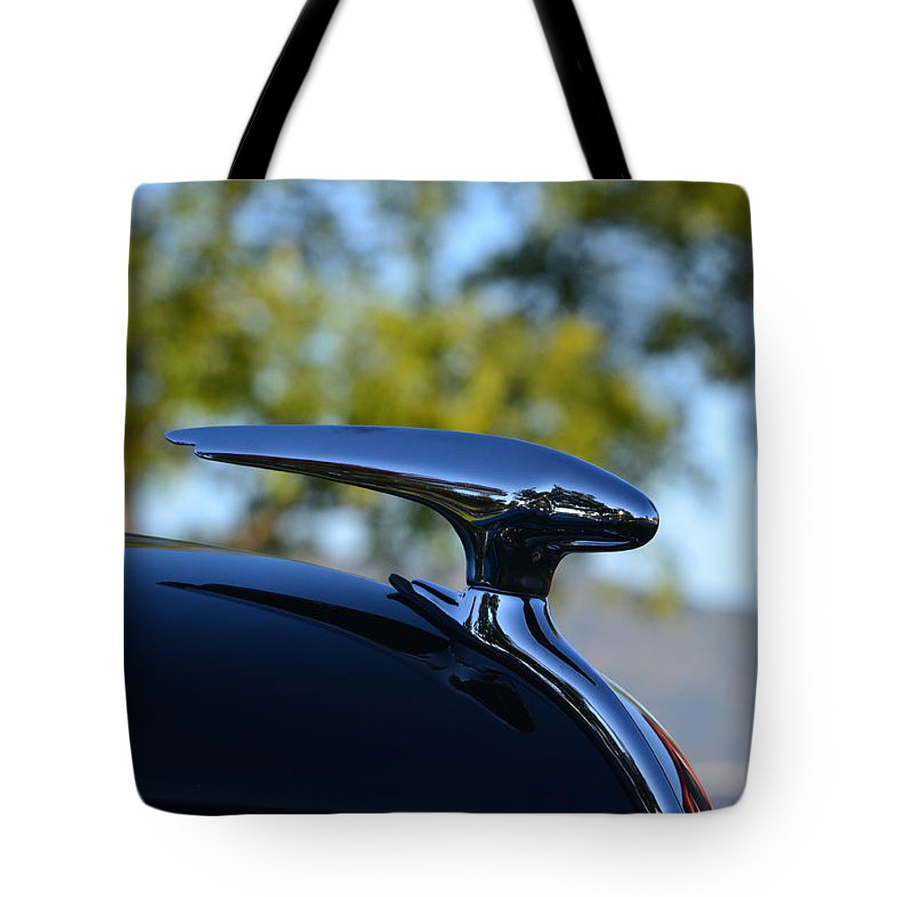 Tote Bag featuring the photograph Hood Ornement by Dean Ferreira