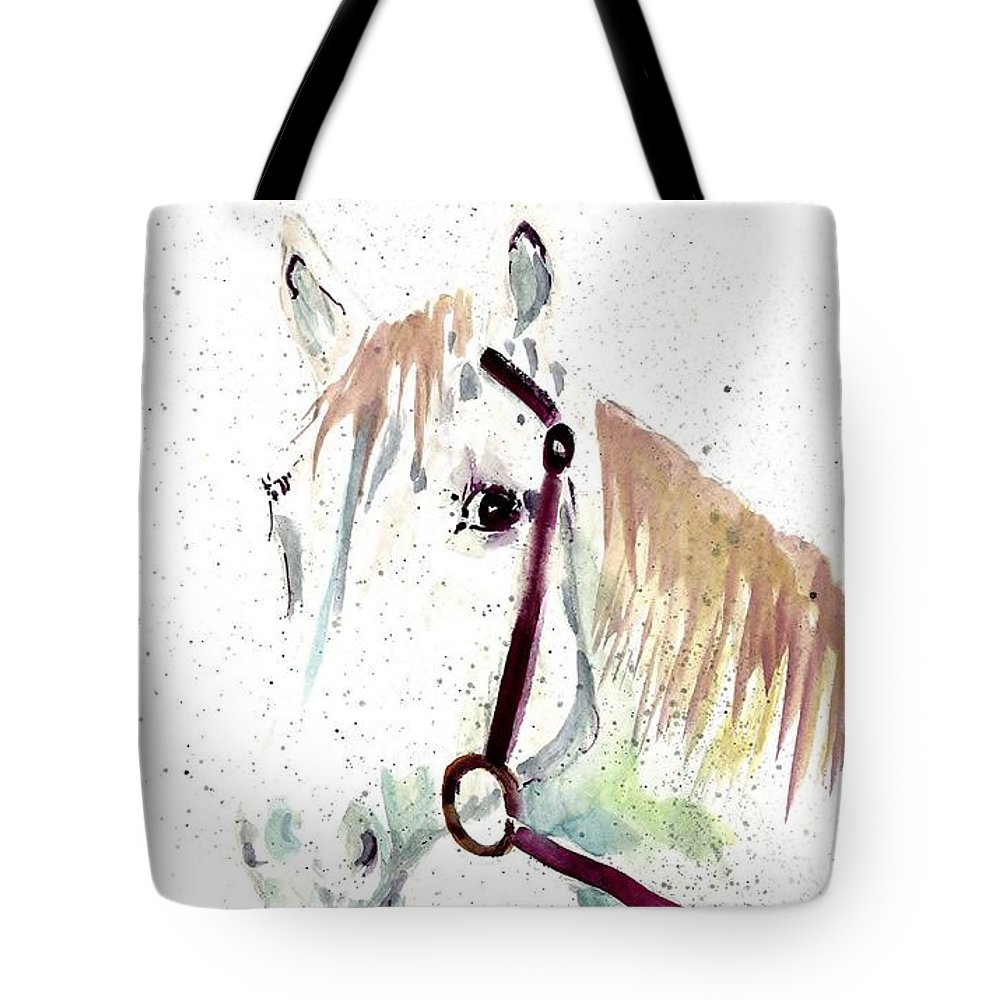 Horse Tote Bag featuring the painting Horse Study by Steven Schultz
