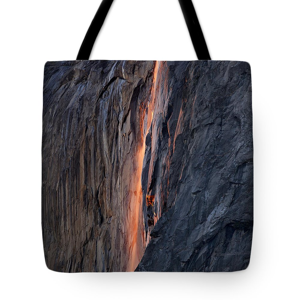 Horsetail Falls Tote Bag featuring the photograph Horsetail Falls 9935 by Jeff Grabert