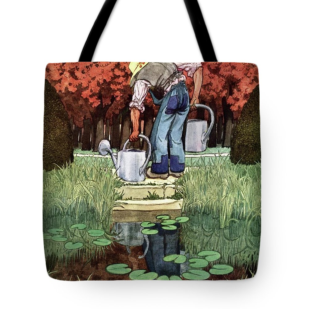 House And Garden Tote Bag featuring the photograph House And Garden Spring Gardening Guide Cover by Pierre Brissaud
