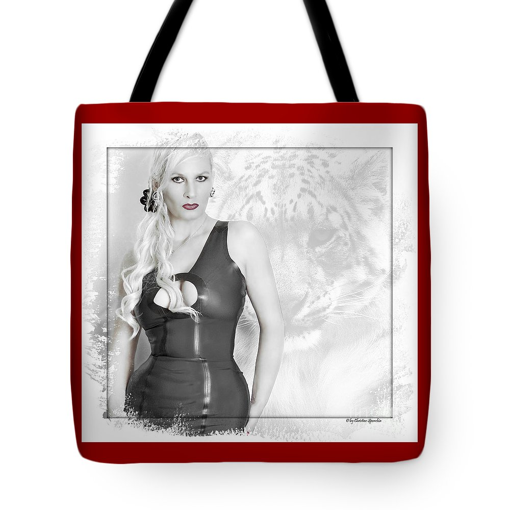 Cat Tote Bag featuring the photograph Human And Animal by Christine Sponchia