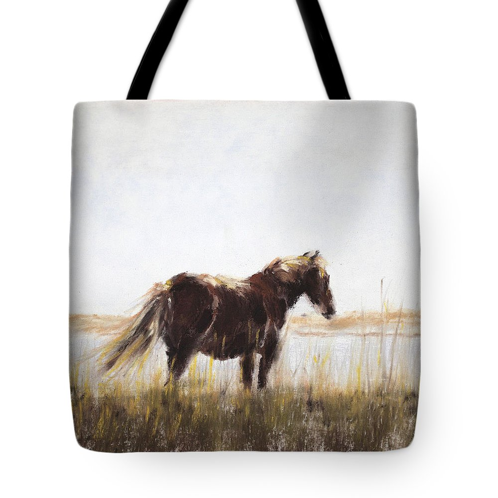 Wild Tote Bag featuring the painting I Wonder by Sandy Brooks