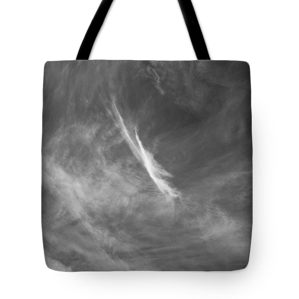 Clouds Tote Bag featuring the photograph In The Clouds by David Pyatt