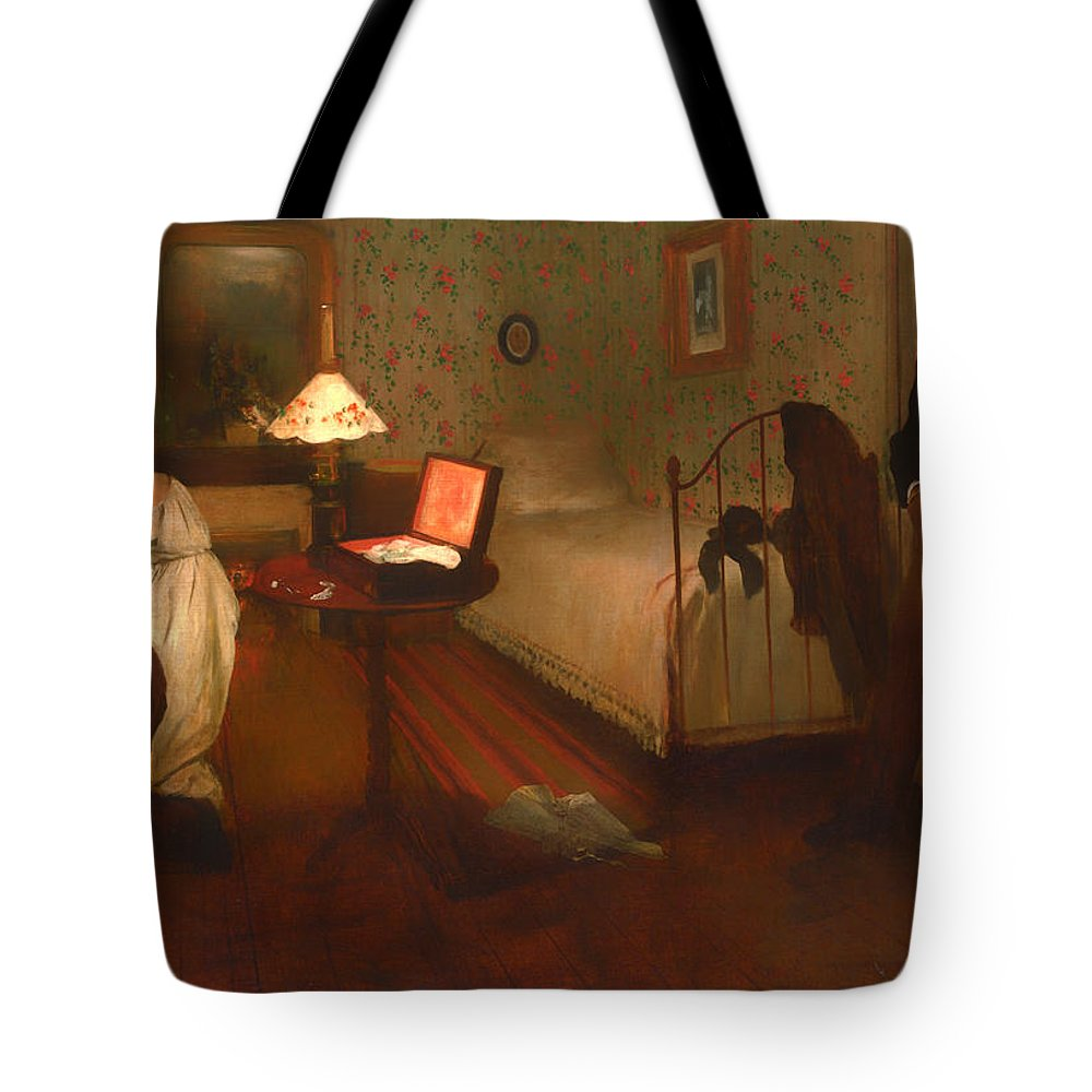 Interior Tote Bag featuring the painting Interior by Edgar Degas