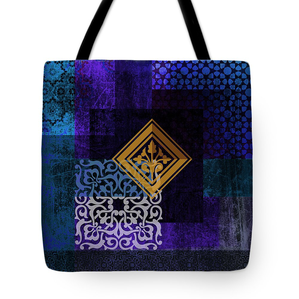 Arabic Motives Paintings Tote Bag featuring the painting Islamic Motives by Corporate Art Task Force