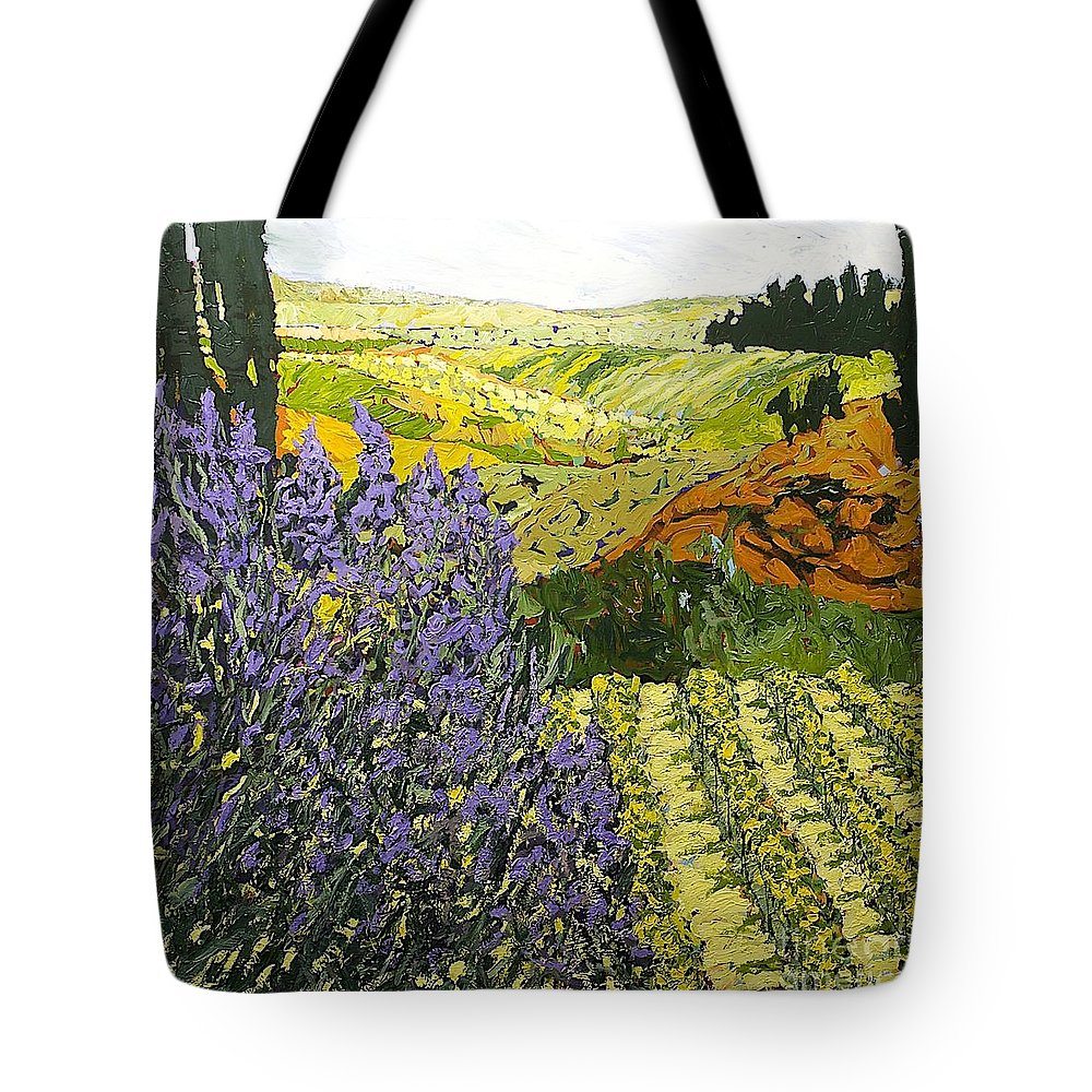 Landscape Tote Bag featuring the painting It Is Magic by Allan P Friedlander