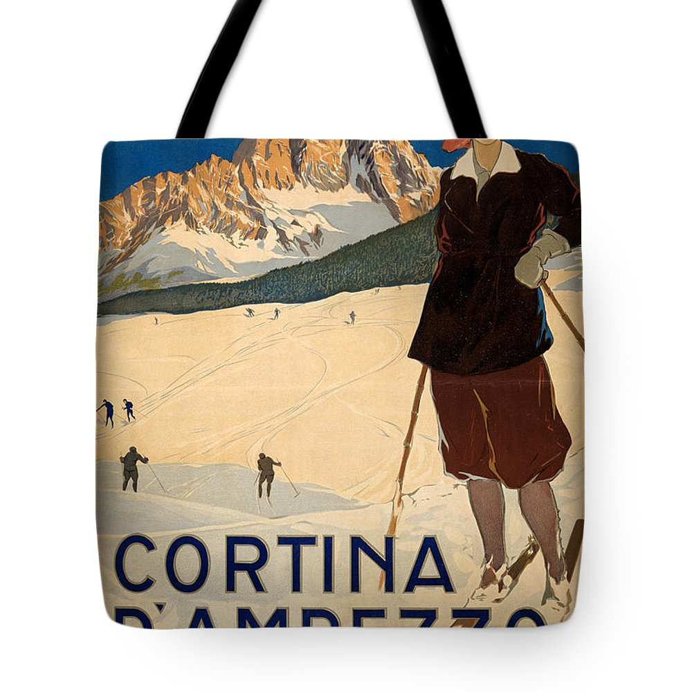 1920 Tote Bag featuring the photograph Italian Travel Poster by Granger