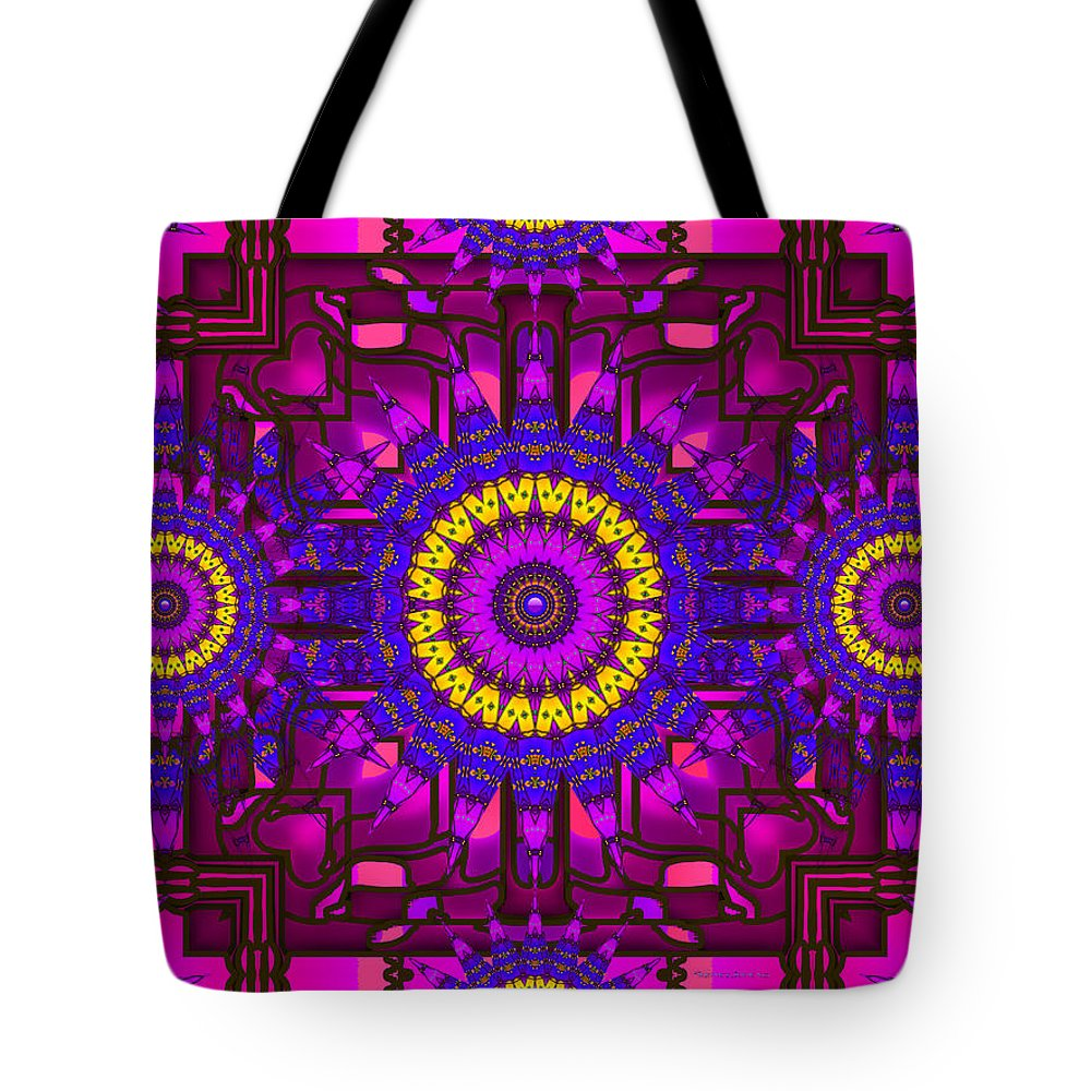 Purple Tote Bag featuring the digital art Different Church by Robert Orinski