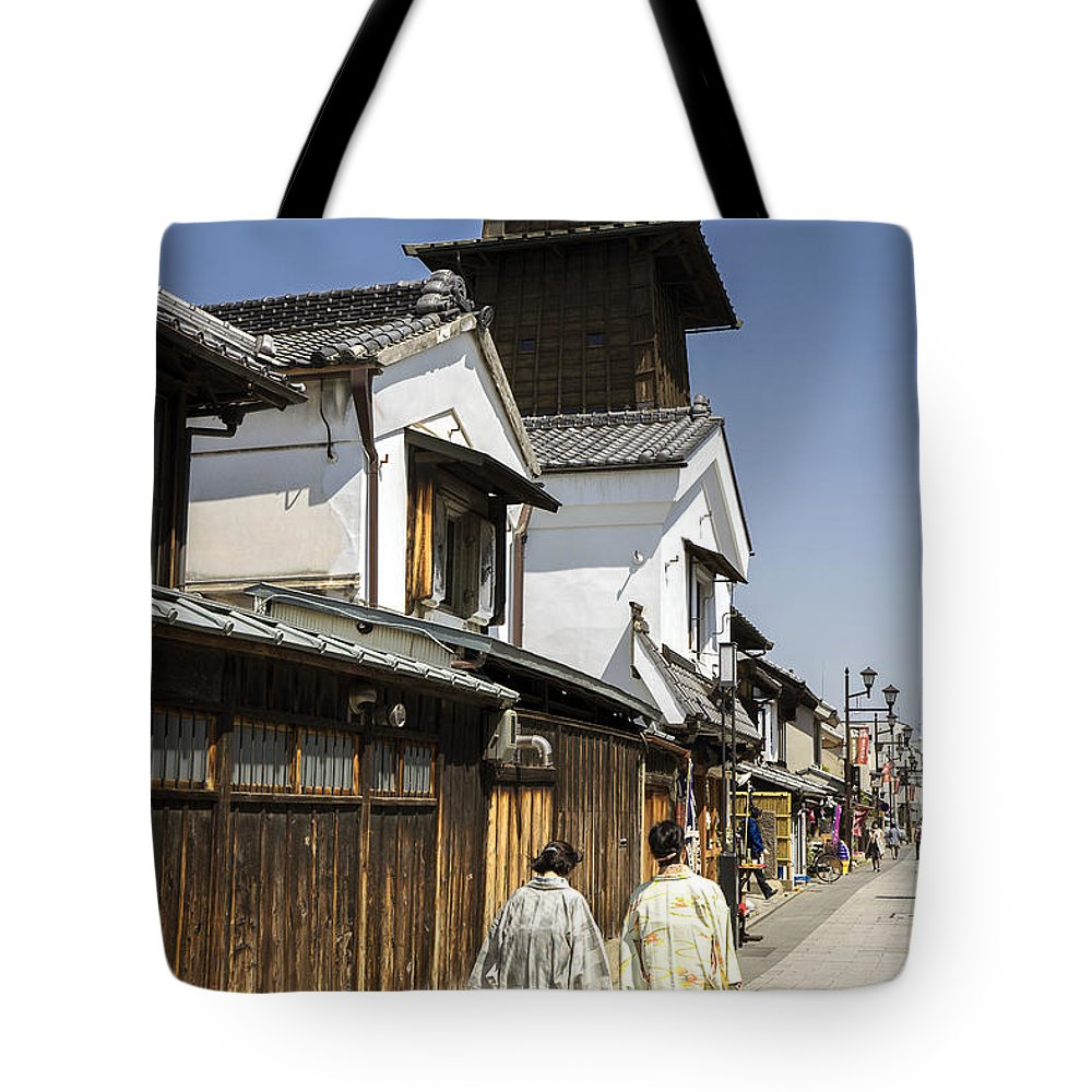 Daytrip Tote Bag featuring the photograph Kawagoe Bell Tower by For Ninety One Days